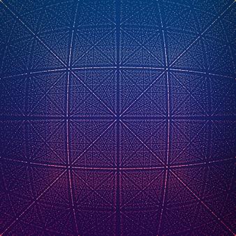 Vector oneindige rhombische tunnel van glanzende fakkels