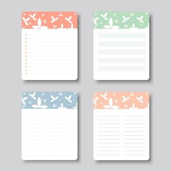 Vector ontwerpelementen voor notebook