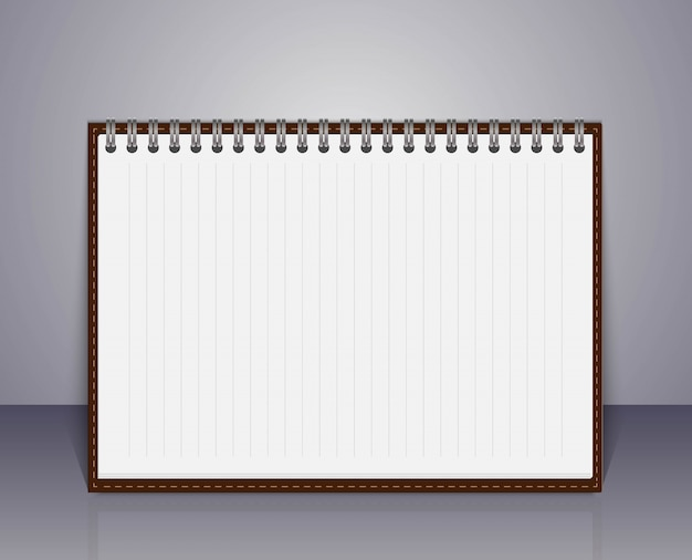 Vector open leeg notitieboekje.
