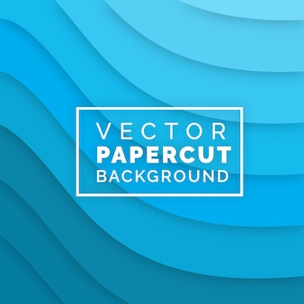 Vector papercut achtergrondontwerp