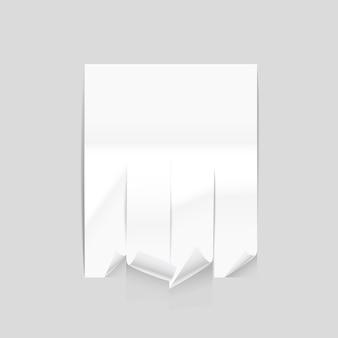 Vector papieren advertentieblad mockup vectorillustratie