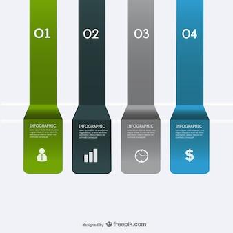 Vector papieren etiketten infographics