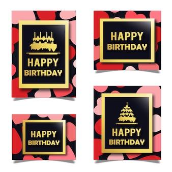 Vector patroon verjaardagskaarten