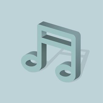 Vector pictogram van muziek notitie