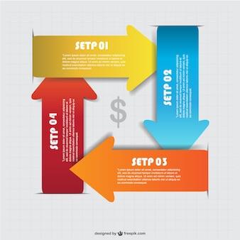 Vector pijlen infografie gratis