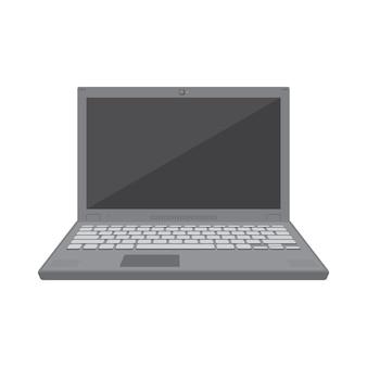Vector plat effen kleuren grijs laptop pictogram