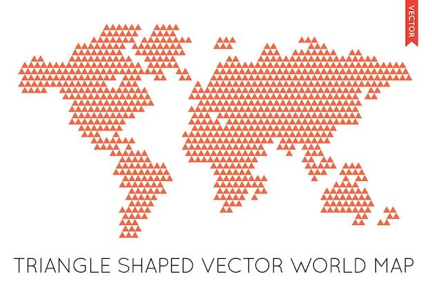 Vector platte wereldkaart infographic. wereldkaart.