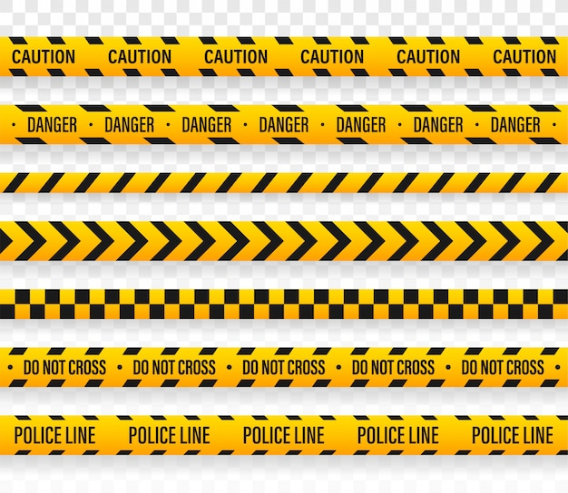Vector politie lijn overschrijden geen tape-ontwerp