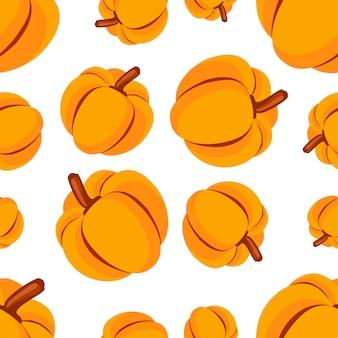 Vector pompoen van het voedsel de naadloze patroon.