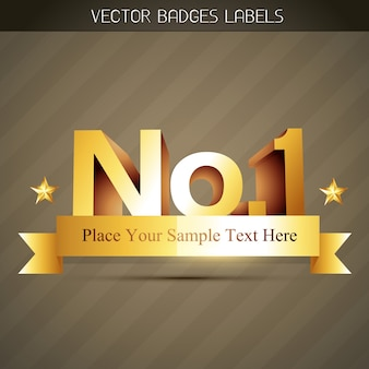 Vector populair nr 1 label stijl ontwerp