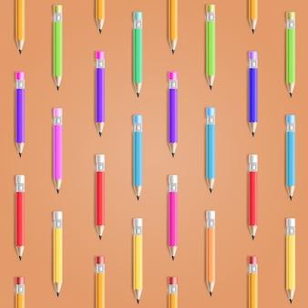 Vector potlood naadloze patroon. onderwijs achtergrond
