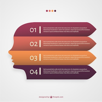Vector profiel infographic