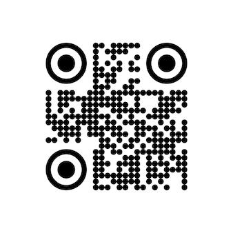 Vector qr-code monster voor smartphone scannen geïsoleerd op een witte achtergrond.