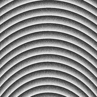 Vector radiale lijnen dotwork achtergrond