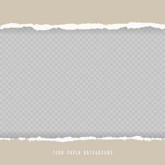 Vector realistisch gat gescheurd in papier met schaduwen geïsoleerd op transparante achtergrond