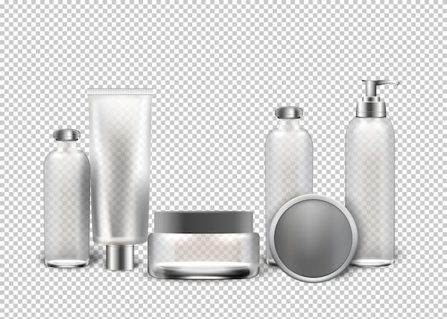 Vector realistische cosmetica transparante achtergrond.