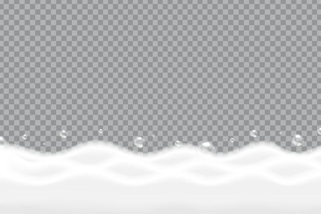 Vector realistische geïsoleerde zeep schuim achtergrond