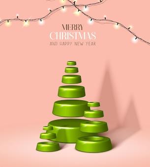 Vector realistische kerstmis en nieuwjaar achtergrond banner flyer wenskaart briefkaart verticaal