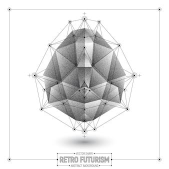 Vector retro futurisme abstracte veelhoekige vorm