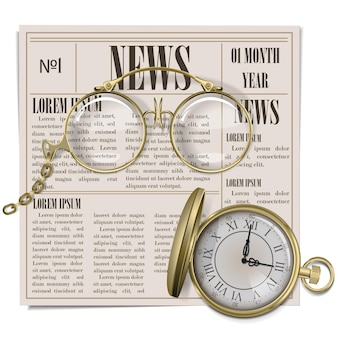 Vector retro krantenconcept