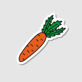 Vector rode biet sticker in cartoon stijl platte groente icoon met zwarte lijnen