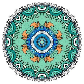 Vector ronde mandala in kinderachtige stijl.