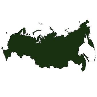 Vector rusland pictogram geïsoleerd op een witte achtergrond