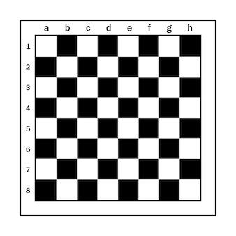 Vector schaakbord voldoet aan de normen