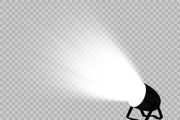 Vector schijnwerpers. tafereel. lichteffecten.