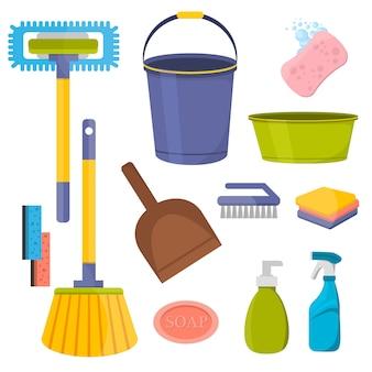 Vector schoonmakende hulpmiddelen