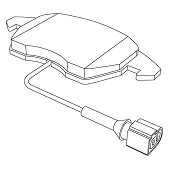 Vector set auto remblokken voor vervanging met sensor, contour lijntekeningen