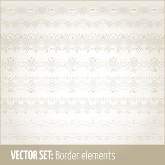 Vector set grenselementen en pagina-decoratie-elementen. border decoratie elementen patronen. etnische grenzen vector illustraties.