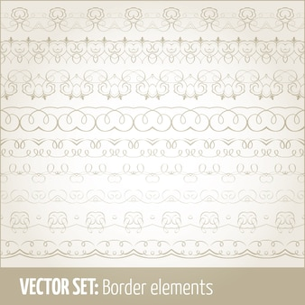 Vector set grenselementen en pagina-decoratie-elementen. border decoratie elementen patronen. etnische grenzen vector illustraties.