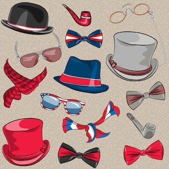 Vector set hipster accessoires