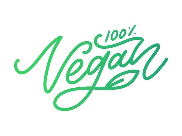 Vector set illustratie, voedsel ontwerp. handgeschreven letters voor restaurant, cafémenu. vector-elementen voor labels, logo's, insignes, stickers of pictogrammen. kalligrafische en typografische collectie. veganistisch menu