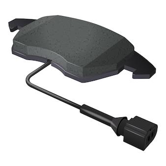 Vector set nieuwe auto remblokken met sensor voor vervanging