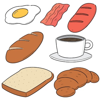 Vector set ontbijt