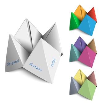 Vector set origami waarzeggers