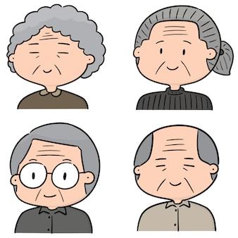 Vector set oudere mensen
