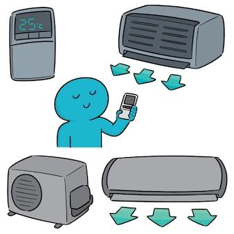 Vector set van airconditioner