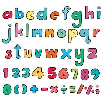 Vector set van alfabet en nummer