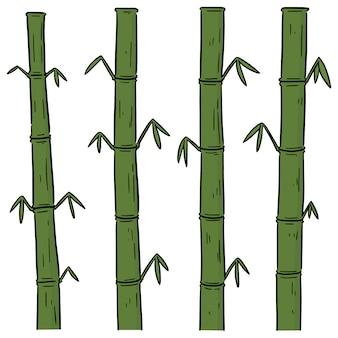 Vector set van bamboe