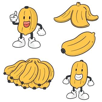 Vector set van bananen