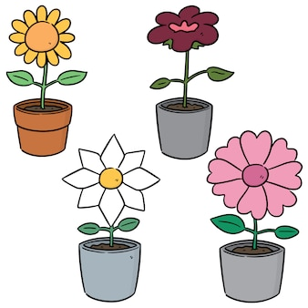 Vector set van bloem