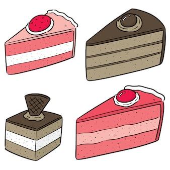 Vector set van cake