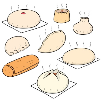 Vector set van chinese snack