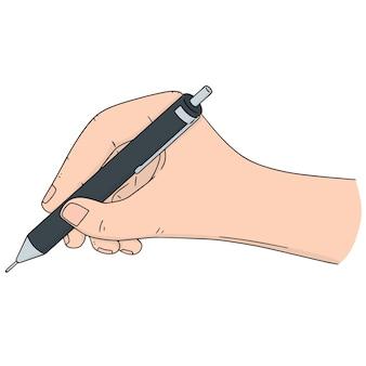 Vector set van de hand schrijven met potlood