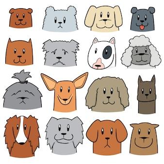 Vector set van de hond
