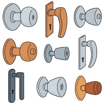 Vector set van deurknoppen