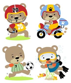Vector set van dieren cartoon
